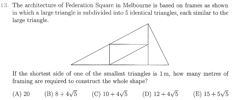 The Australian Mathematics Competition Questions - Blackwood High School