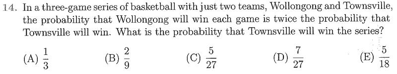 The Australian Mathematics Competition Questions - Blackwood High School